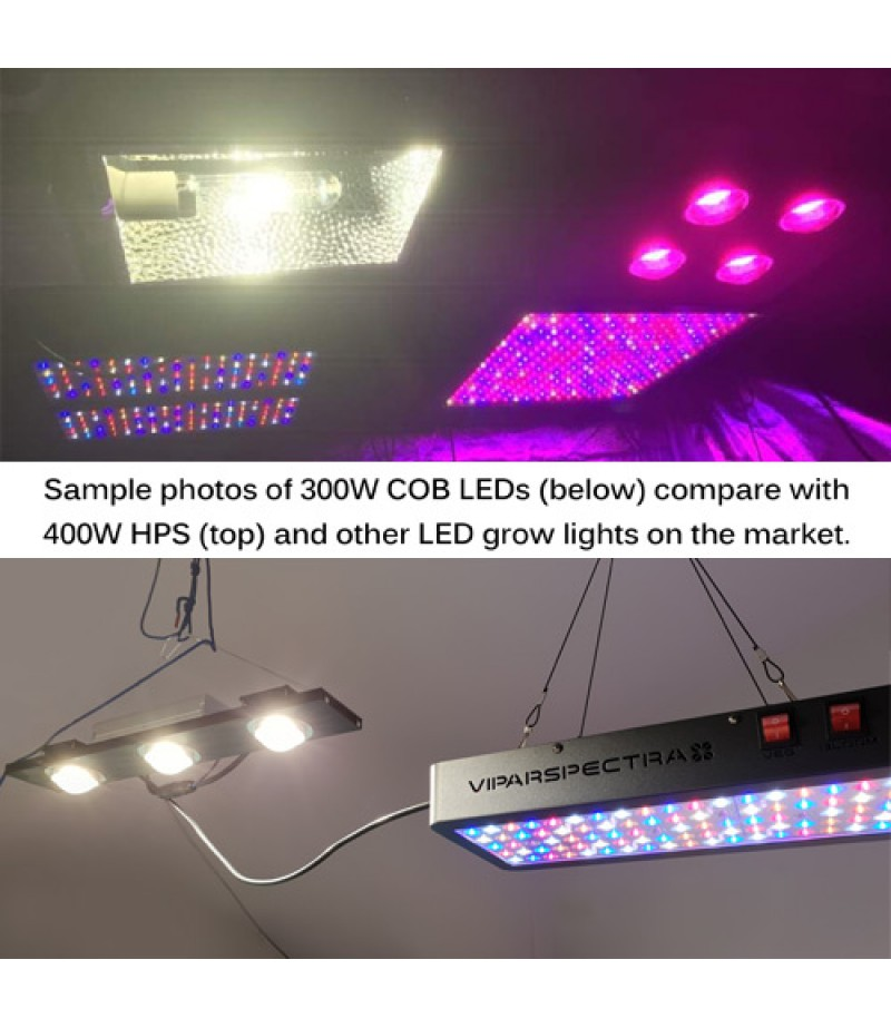 400w Cree Cxb3590 Cob Led Grow Light Comparable To 400w Hps